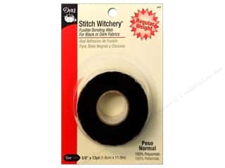 Fusible Web $4 - $5: Stitch Witchery Fusible Bonding Web by Dritz Regular 5/8 in. x 13 yd. Black