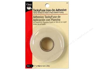 Double-sided Tape: TackyFuse Iron-On Adhesive by Dritz 1 in. x 10 yd.