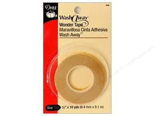 "Double-sided Tape: Dritz Tape Wash Away Wonder Tape 1/4""x 10yd"