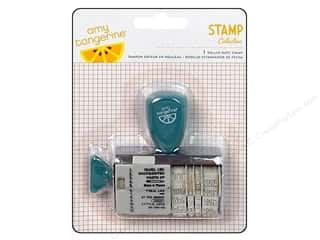 Stamps paper dimensions: American Crafts Roller Date Stamp Amy Tangerine Ready Set Go Collection Photo Op