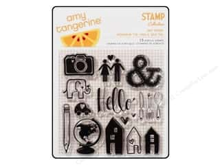 Scrapbooking & Paper Crafts  Stamps  Rubber Stamp: American Crafts Stamps Clear AT ReadySetGo Hey