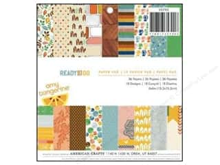 American Crafts paper dimensions: American Crafts Paper Pad 6 x 6 in. Amy Tangerine Ready Set Go
