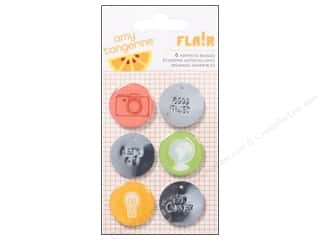 Metal Clearance Crafts: American Crafts Flair Self Adhesive Badges Amy Tangerine Ready Set Go