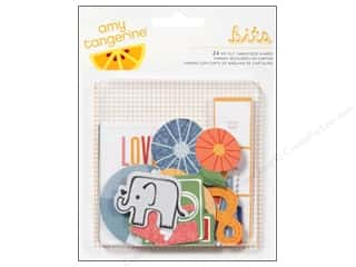 American Crafts Embellishment Bits Amy Tangerine Ready Set Go Die Cut Shapes