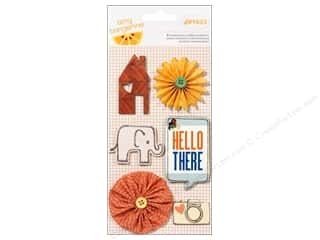 button American Crafts: American Crafts Dimensional Stickers Amy Tangerine Ready Set Go