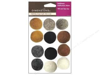Dimensions Wool Felting Supplies: Dimensions 100% Wool Felt Embellishment Ball Earth