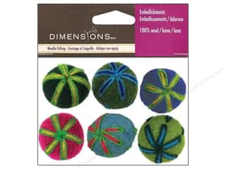 Dimensions 100% Wool Felt Embl Ball Embroidered (3 set)