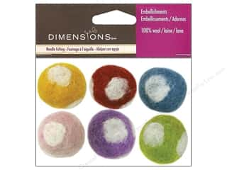 Dimensions 100% Wool Felt Embl Ball Polka Dot (3 set)