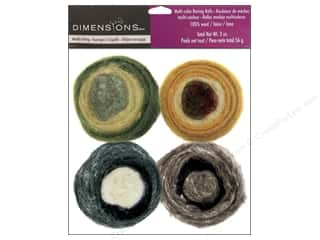 Felt Shapes: Dimensions 100% Wool Felt Embellishment Roving Rolls Earth