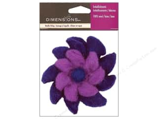 Lacis Wool Felting Supplies: Dimensions 100% Wool Felt Embellishment Pinwheel Purple
