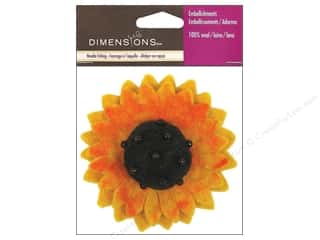 Dimensions: Dimensions 100% Wool Felt Embl Sunflower
