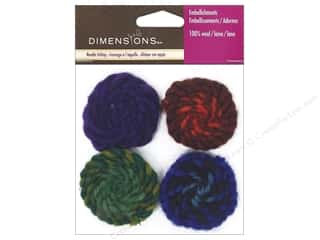 Flowers / Blossoms Felting: Dimensions 100% Wool Felt Embellishment Spirals Cool