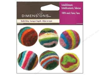 Dimensions 100% Wool Felt Embl Ball Striped (3 set)