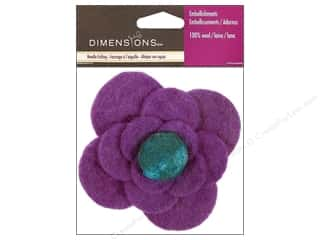 Flowers / Blossoms Felting: Dimensions 100% Wool Felt Embellishment Flower Large Mum (3 pieces)