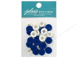 EK Jolee's Boutique Embl Button Assortment Bl&Wht