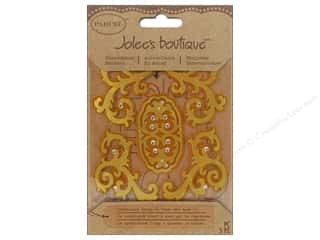 Jolee's Boutique Stickers Parcel Gold Felt Flourishes