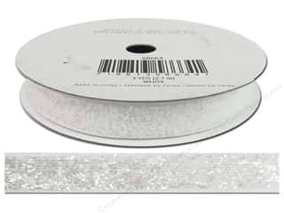 American Crafts Ribbon Tinsel 3/8&quot; White