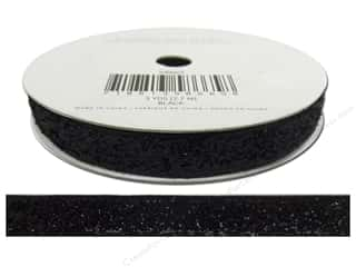 American Crafts Tinsel Ribbon 3/8 in. Solid Black