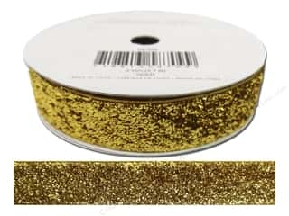 Ribbons Metallic Ribbon: American Crafts Tinsel Ribbon 5/8 in. x 3 yd. Solid Gold