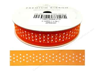 Glue Dots $5 - $8: American Crafts Sheer Ribbon with Dots 5/8 in. x 4 yd. Apricot