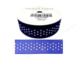 American Crafts Sheer Ribbon Dots 7/8 in. Sapphire