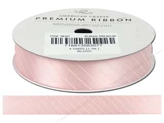 "American Crafts Ribbon Satin Slants 5/8"" Blush 4yd"
