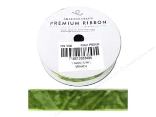 "American Crafts Ribbon Crushed Velvet 3/4"" Spinach"