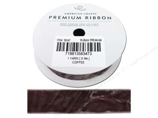 American Crafts Velvet Ribbon 3/4 in. Coffee