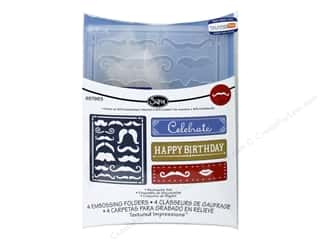 Sizzix Emboss Folder JLong TI Mustache Set