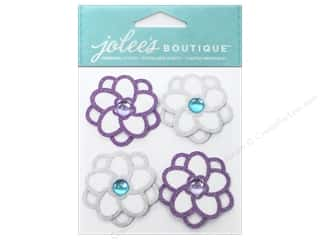 Jolee's Boutique Stickers Felt Christmas Flowers