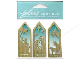Jolee's Boutique Stickers Wooden Nativity Tags