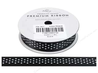 Glue Dots $5 - $8: American Crafts Satin Ribbon with Dots 5/8 in. x 4 yd. Black