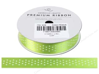 Glue Dots $5 - $8: American Crafts Satin Ribbon with Dots 5/8 in. x 4 yd. Leaf