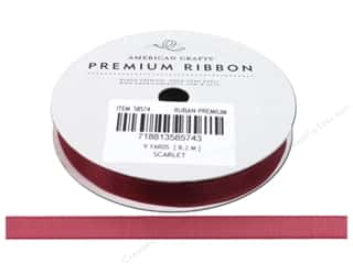 Ribbons 3 Yards: American Crafts Sheer Ribbon 3/8 in. x 9 yd. Scarlet Pomegranate