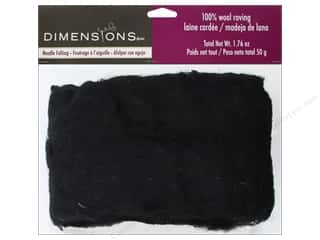 Dimensions 100% Wool Roving Black 1.76oz