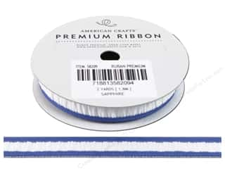 Polyester Ribbon / Synthetic Blend Ribbon: American Crafts Ribbon Grosgrain Gath 1/2&quot; Sapph