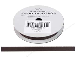Ribbons Brown: American Crafts Twill Ribbon 3/8 in. x 3 yd. Coffee