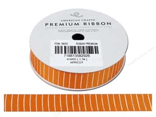 "American Crafts Ribbon Grosgrain Lines 5/8"" Aprict"