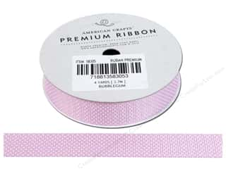 Threads Clearance Crafts: American Crafts Grosgrain Ribbon with Stars 5/8 in. x 4 yd. Bubblegum