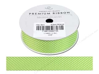 American Crafts Grosgrain Ribbon Stars 7/8 in. Leaf