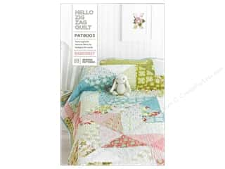 Zig Clearance Patterns: BasicGrey Hello Zig Zag Quilt Pattern