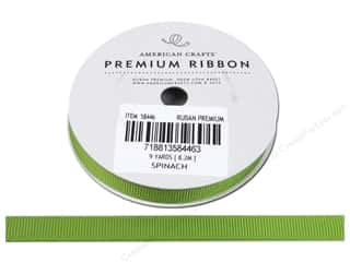 American Crafts Grosgrain Ribbon 3/8 in. x 9 yd. Spinach