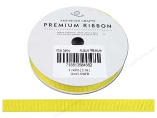 American Crafts Grosgrain Ribbon 3/8 in. x 9 yd. Sunflower