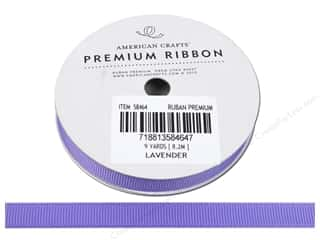 "American Crafts Ribbon Grosgrain Solid 3/8"" Lavender 9yd"