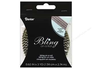 Darice Bling On A Roll Mesh Ribbon 5/8&quot; 3yd Gold