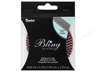 Darice Bling On A Roll Mesh Ribbon 5/8&quot; 3yd Red