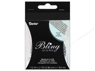 "Rhinestones Sewing & Quilting: Darice Bling On A Roll Mesh Ribbon 1.25"" 2yd Silver"