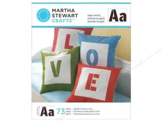 Martha Stewart Crafts ABC & 123: Martha Stewart Stencils by Plaid Paper Alphabet Sans Serif