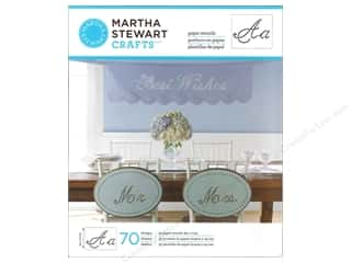 ABC & 123 Papers: Martha Stewart Stencils by Plaid Paper Alphabet Script
