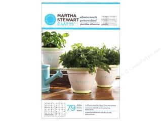 Martha Stewart Crafts ABC & 123: Martha Stewart Stencils by Plaid Adhesive Condensed Alphabet